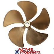 Acme 14 X 13.5 Inboard Propeller Right Hand Nibral Cupped 1 1/8 Bore 5 Blade