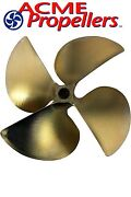 Acme 13.5 X 19 Inboard Propeller Left Hand Nibral Cupped Splined Bore 4 Blade