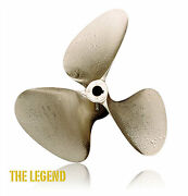 Oj Legend 13 X 13 Inboard Propeller 3 Blade Left Hand Nibral 1 1/8 Shaft 1023