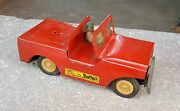 1960's Vintage Rare Bambo Friction Jeep Tin Toy-top Condition, Japan