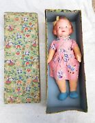 1940and039s Vintage Fetherlite 15 Porcelain And Cloth Charlotte Doll Toy Germany