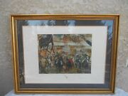 Salvador Dali Battle Of Tetuan Hand Signed And Numbered Lithograph In 1982