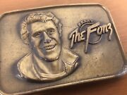Vintage 1976 The Official Happy Days Fonzie Belt Buckle Rare The Fonz