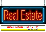 Real Estate Neon Sign   Jantec   32 X 13   Open Houses Homes Rent Buy Mortgage