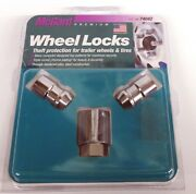 Mcgard 1/2-20 Security Wheel Locks 74042 2 Locking Trailer Lug Nuts W/tool Kit