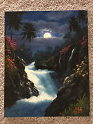 Andnbspanthony Casay And039wainnini Fallsand039- Original Oil On Canvas