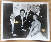 1950's The Carolers 8x10 Autographed Photo Penny Perry Russell Hammer ++ 00147