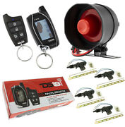 Car Alarm Security System W/ Remote Start 2 Way Keyless Entry Lcd And 4 Door Locks