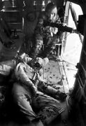 Vietnam War Us Army Door Gunner With Wounded Pilot Glossy 8x10 Photo