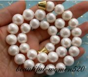 Z2084 Huge 17 14mm White Round Freshwater Pearl Necklace Magnet