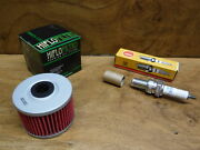 85-87 Honda Fourtrax 250 Tune Up Kit Oil Filter And Spark Plug Fast Free Shipping