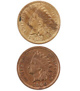 Raw 2 Pack 1905 And 1906 Indian Head 1c Uncertified Ungraded Us Copper Penny Lot