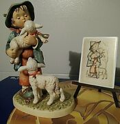 Hummel Shepherdand039s Boy Sold Out L.e. 13 With Easel And Plaque