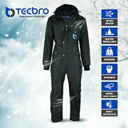 Tecbro Chill Bloc Menand039s Insulated Coverall Extreme Cold Weather Freezer Suit -50
