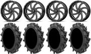 Msa Milled Switch 20 Utv Wheels 33 Motohavok Tires Can-am Defender