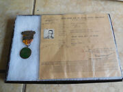 Vietnam War National Police Badge Medal W/ Permit Carry Id Photo Card Viet-nam