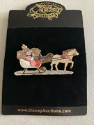 Disney Auctions Belle And Beast Home For The Holidays Christmas Sled Pin Le 100