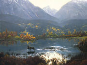 Stephen Lyman Canadian Autumn Limited Edition Canvas Mint And New Moose