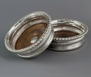 A Large Pair Of George Iii Silver Wine Coasters Sheffield 1819 By T And J Settle