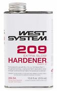 West Systems 209 Extra Slow Hardener Boat Marine .66 Pnt Clear Amber Solid10.6oz