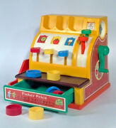 Vintage 1974 Fisher Price Cash Register And Coins Play Set 926 Complete- Euc