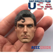 1/6 Superman Christopher Reeve Head Sculpt For 12 Phicen Tbl Hot Toys U.s.a.