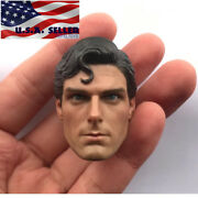 1/6 Superman Christopher Reeve Head Sculpt For 12 Hot Toys Phicen Tbl Figure
