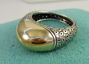 Estate Vintage Pedro Boregaard Sterling Silver 14k Yellow Gold Size 8 Dome Ring