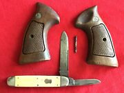 Smith And Wesson Grips - Large N Frame Andremington R-1225 Vintage 2blade6pins