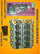 Pair Jeep Chrysler Dodge 4.7 Sohc Cylinder Heads 99-04 Gaskets And Bolts No Core