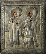 Russian Antique Silver Icon - Signed - Hd Pictures