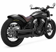 Vance And Hines Twin Slash Slip-ons For Indian - 3 Inch - Matte Black - 48623