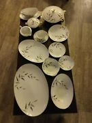 1950and039s Vintage China Set By Noritake With 12 Setting Plus 9 Serving Pieces.