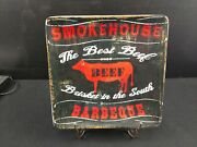 Smokehouse Bbq The Best Beef Brisket In The South Platter 12.5 Sq Pela Studio