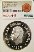 1978 Mexico Silver Medal King Of Spain Visit To Mexico Ngc Ms 67 Top Pop Beauty
