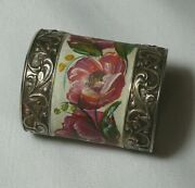 Napkin Ring Faberge Artistic Painting Silver 84 Imperial Russia 1908