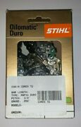 33rd3 72 Stihl 3/8 20 In New Carbide Chainsaw Chain Saw  .050 72 20 Inch Blade