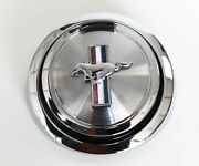 New 1967 - 1968 Ford Mustang Gas Cap Pop Open Pony Emblem Chrome Free Shipping