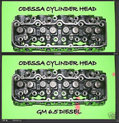 2 New Gm Chevy Hummer 6.5 Diesel 60° Angle Cylinder Heads No Core