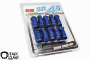 Muteki Sr48 Blue 12x1.5 48mm Extended Open Ended 20 Pcs Lug Nuts Cone Seat