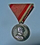 Austrian Hungary Imperial Military Bravery Silver Medal