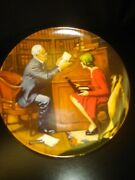 Norman Rockwell The Professor Collectible Plate 18199f