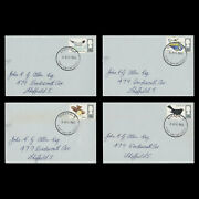 Great Britain 1966 Fdc 4d British Birds Ordinary Singles Missing Red