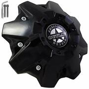 American Outlaw Gloss Black Wheel Center Caps Bc-845 Set Of 4 New