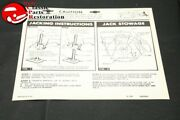 63 Chevy Station Wagon Jack Instructions Decal Gm Part 3825809