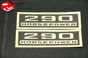 Chevy 280 Horsepower Black And Gold Valve Cover Decals Pair
