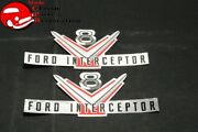 Ford Police Interceptor Valve Cover Decals Pair Free Shipping
