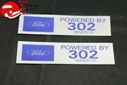 Ford Mustang Shelby Power By 302 Valve Cover Decals - Pair