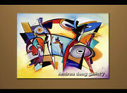 Large Modern Abstract Oil Painting Alfred Gockel Repro On Canvas Wall Art A1511