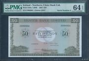 Ireland - Northern Ulster Bank Andpound50 P329a 1982 Low No.000004 Pmg 64 Epq